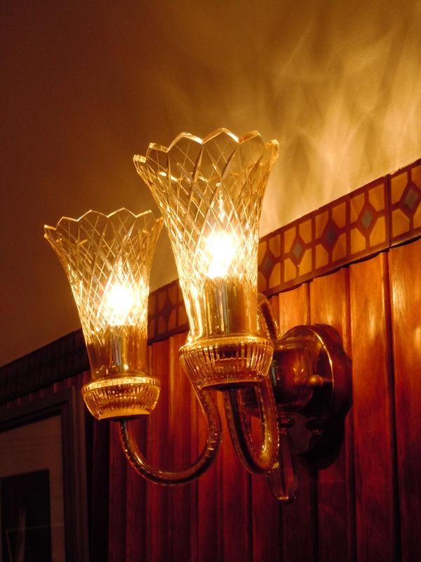 壁に付けられている照明