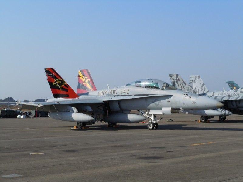 VFMA(AW)-242「BATS」CO(飛行隊長)機のF/A-18D