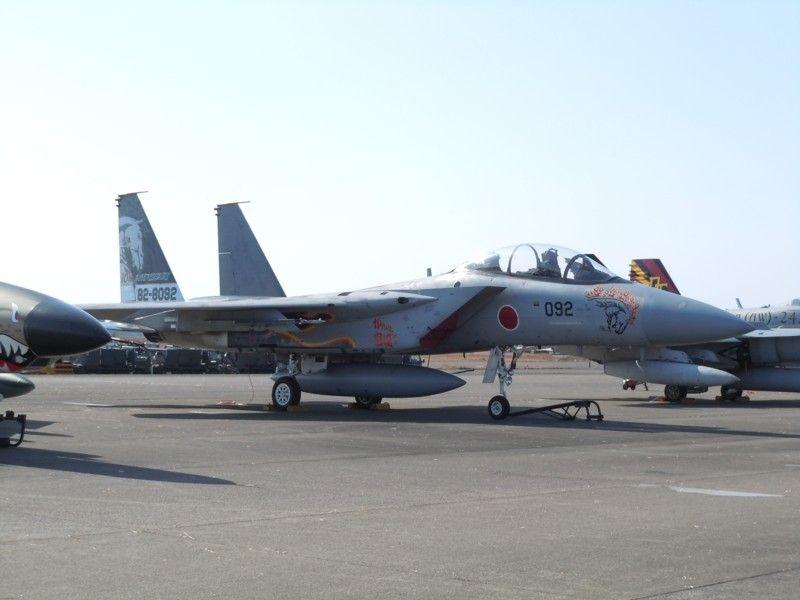新田原基地・第23飛行隊のF-15DJ・部隊創設10周年記念塗装機(82-8092号機)