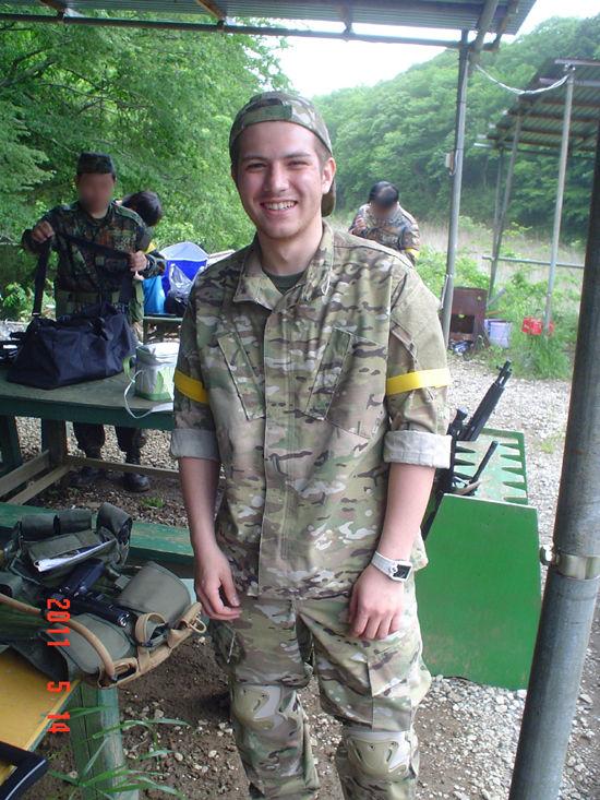 元アメリカ兵のエバンスさん