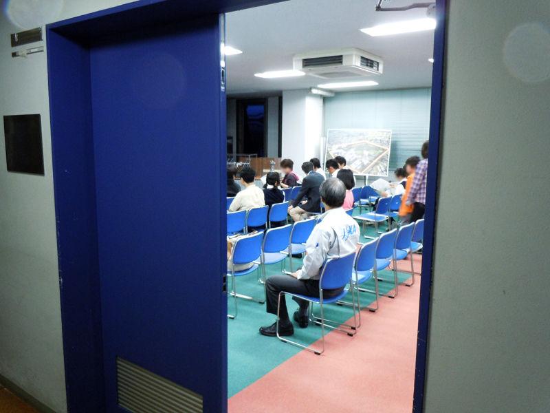 パブリックビューイング会場、広報棟の視聴覚室