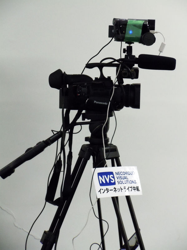 USTREAMとニコニコ生放送の中継をしたカメラ