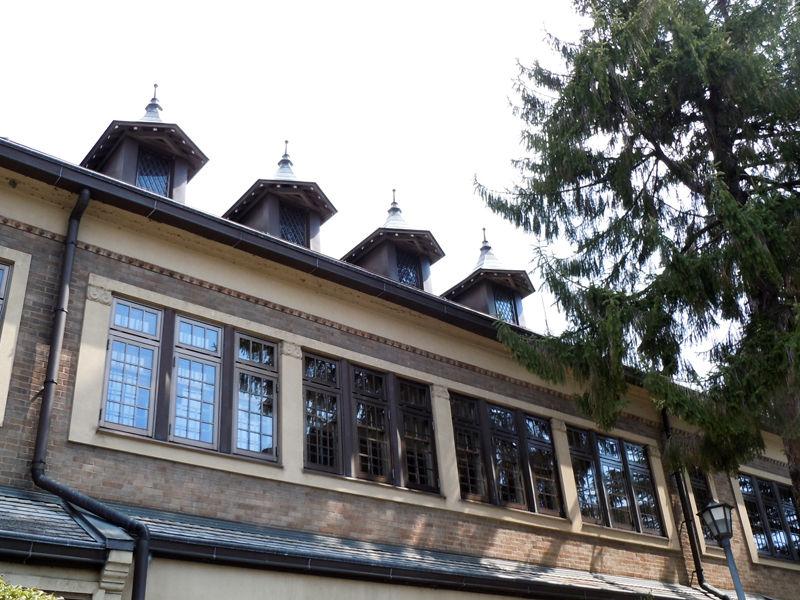 屋根上に並ぶ窓