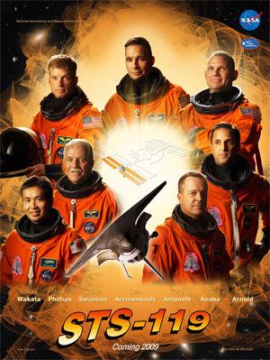 STS-119(ディスカバリー)のミッションポスター