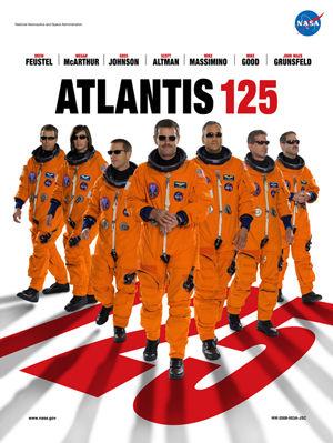 STS-125(アトランティス)のミッションポスター