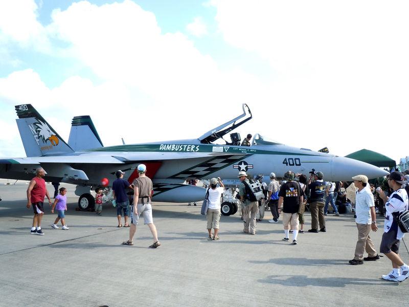 VFA-195「Dambusters」のCAG機(F/A-18E)