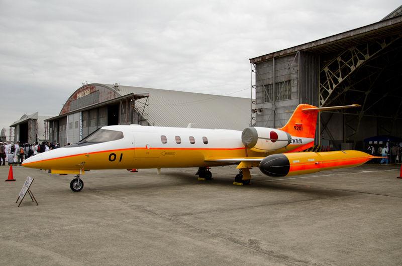岩国基地(山口県)からやって来た、第91航空隊所属の多用途機U-36A(9201号機)