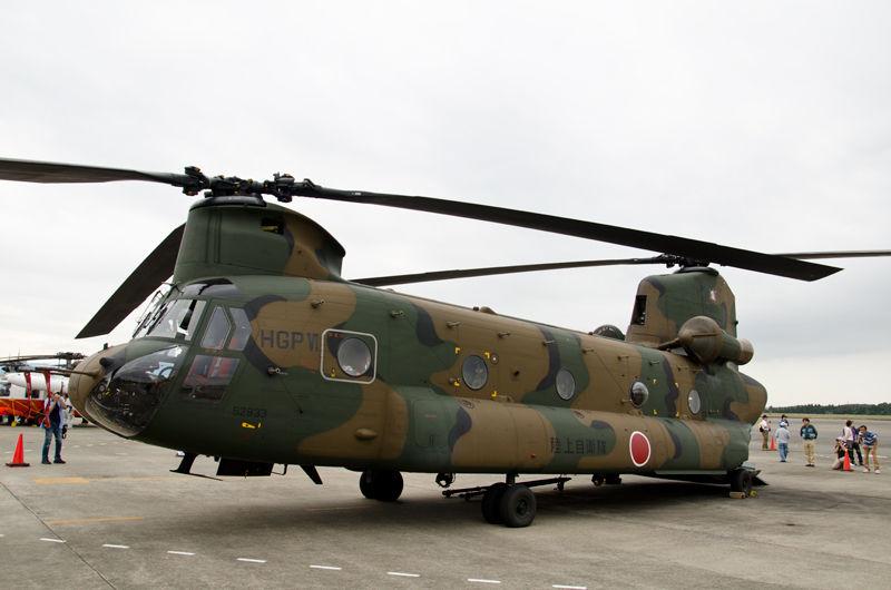 木更津駐屯地の第1ヘリコプター団第106飛行隊のCH-47J