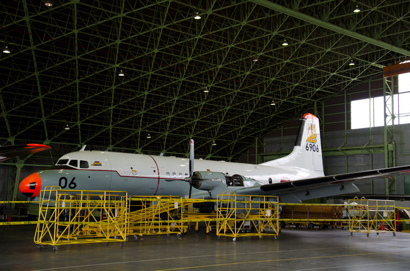 今年5月で使用機が退役し、解隊した205教育航空隊のYS-11T-A