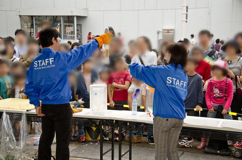 実験系のイベントで人気な液体窒素を使った「超低温の世界」