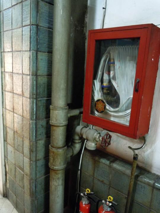 階段室にある消火栓