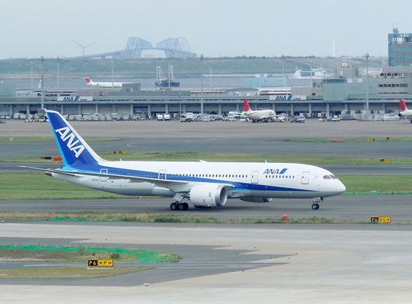 11月の就航に先立つ7月上旬。日本に初めてB787がやってきました。