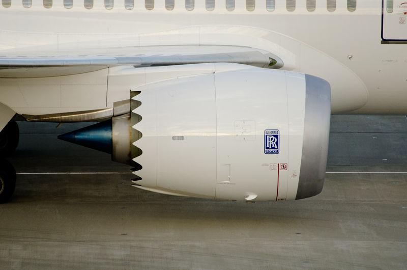 エンジンのカバー後端部。ギザギザしたラインが特徴的。