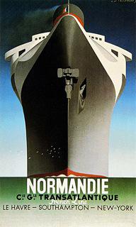 カッサンドルの「ノルマンディー号」ポスター(1935年)