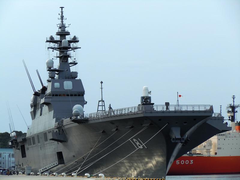 海上自衛隊最大のヘリコプター搭載護衛艦「ひゅうが」