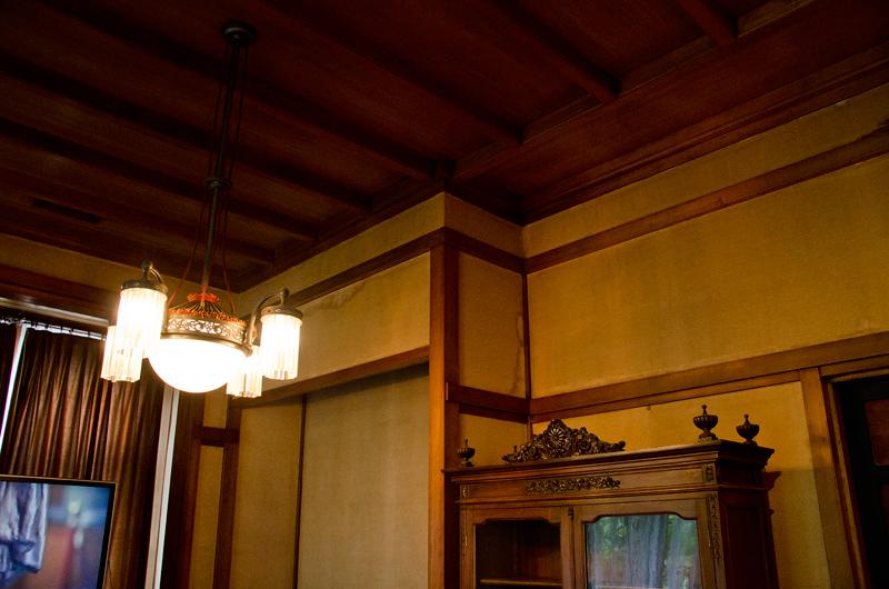 和室である小食堂の内装