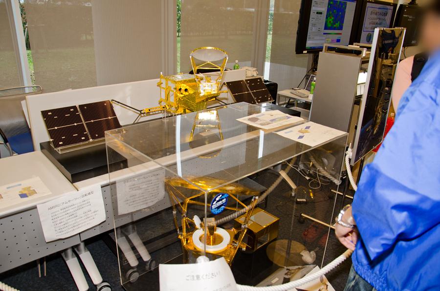 2011年の施設公開で展示された「しずく」縮小模型