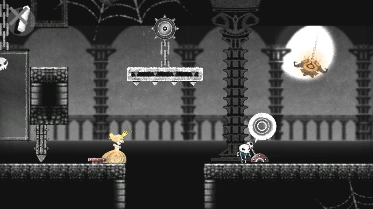 ゲーム内画像(ステージ1「城の尖塔」)
