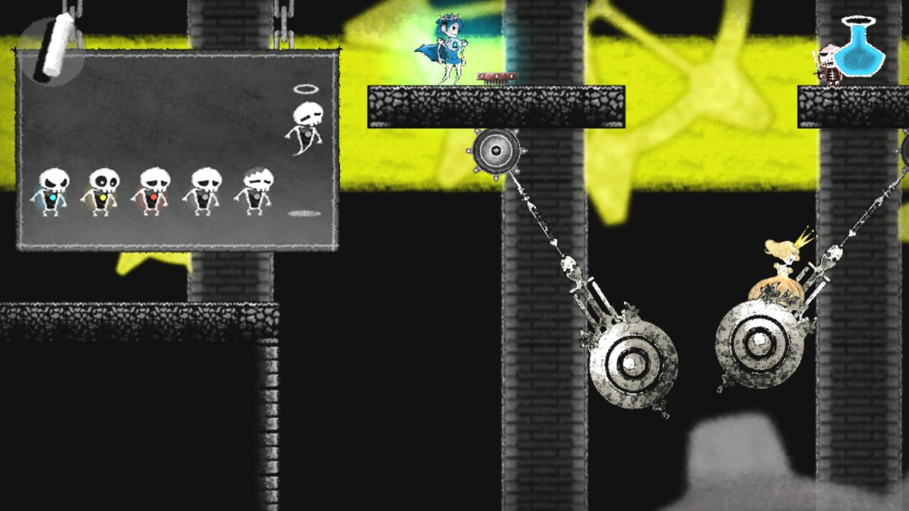 ゲーム内画像(ステージ2「時計塔」)