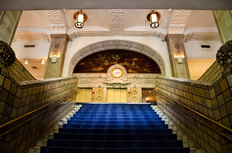 ホテルの象徴、大階段