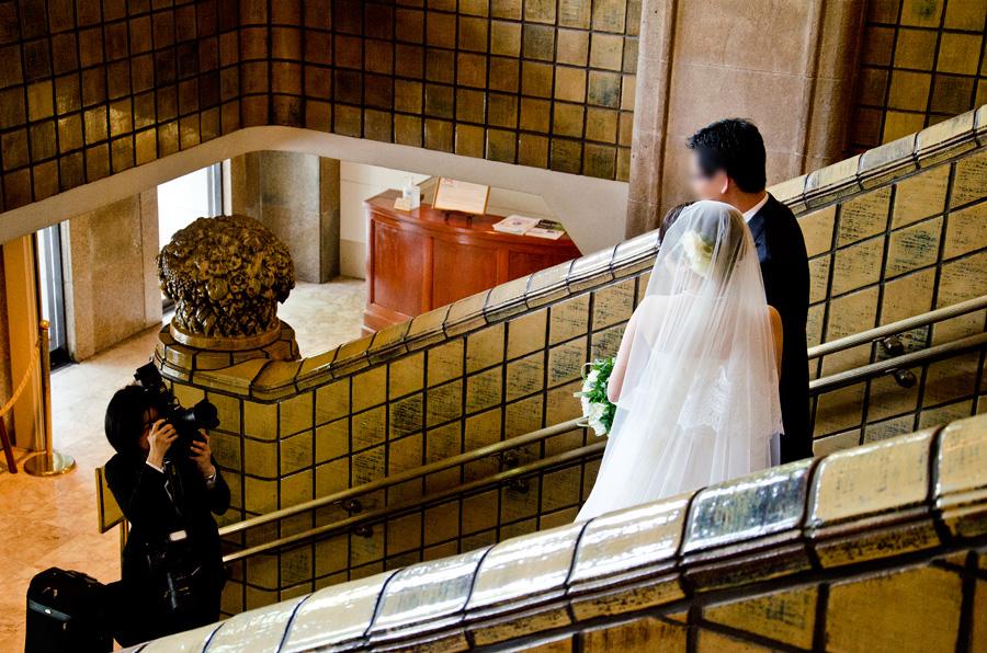 結婚式の記念写真では大定番