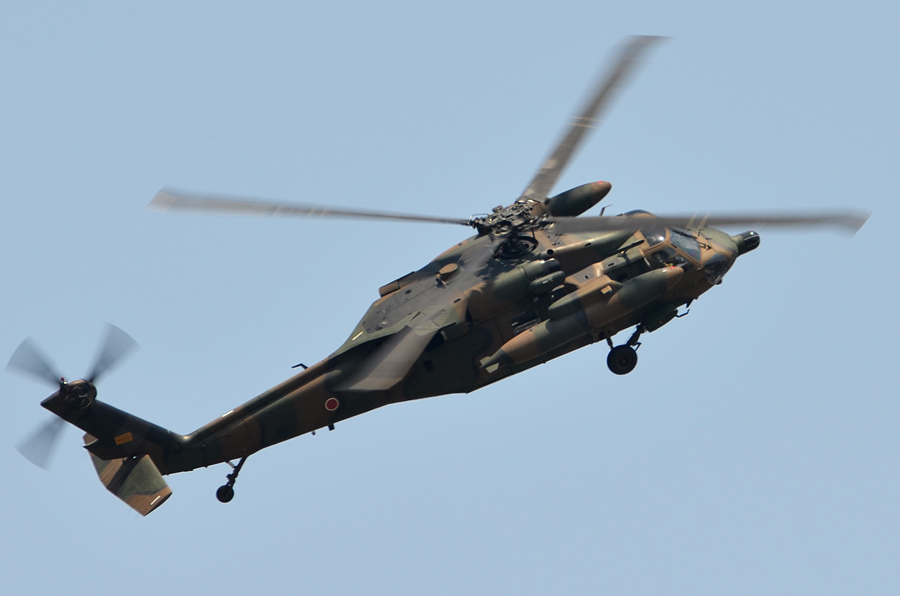 UH-60JAのデモ飛行