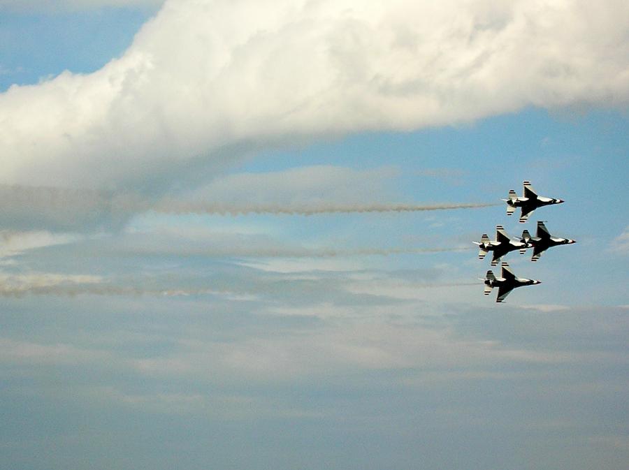 アメリカ空軍サンダーバーズのスモーク
