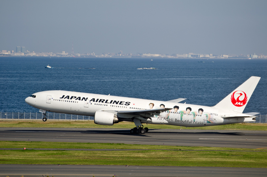 JALのB777-200「嵐ジェット」(JA772J)