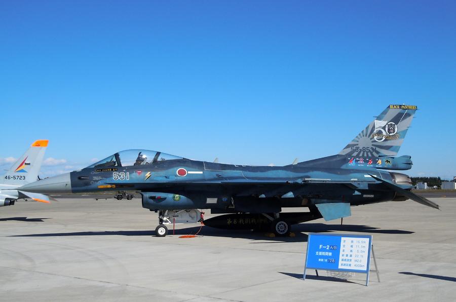 第8飛行隊創設50周年記念のF-2A(53-8531)