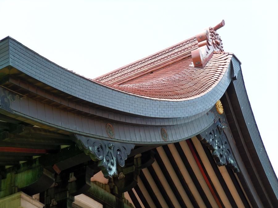 屋根のアップ