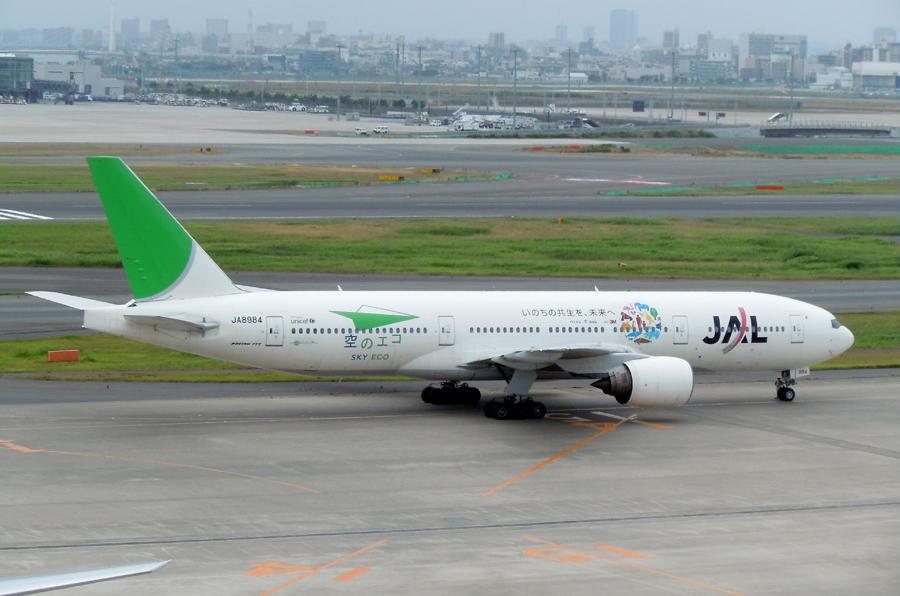 JAL空のエコ(B777-200・JA8984)