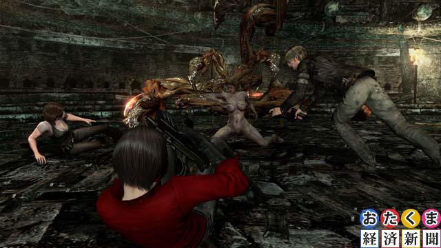 ヘレナに襲いかかるクリーチャーをエイダが援護するシーンも
