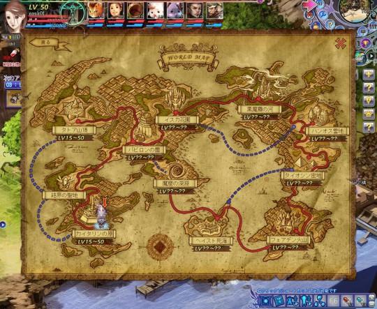 「聖剣ONLINE」マップ