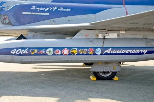 増槽にはF-4を運用した各部隊のマークが