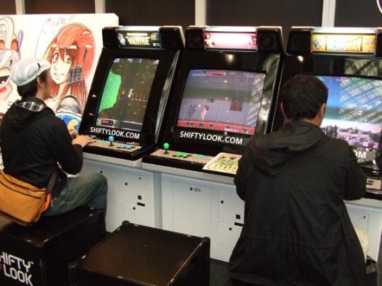 バンダイナムコブース設置の「ワンダーモモ」や「ベラボーマン」といったレトロな筐体のゲーム