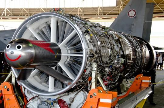 顔のついたJ79ジェットエンジン