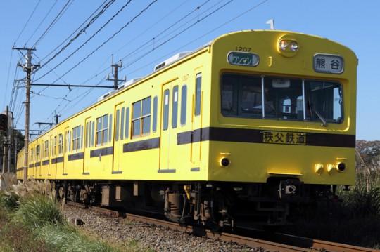 秩父鉄道1007号電車引退を記念して12月8日車内で乗車記念証プレゼント
