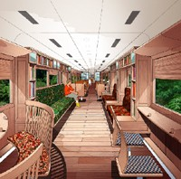 北近畿タンゴ鉄道、水戸岡鋭治氏デザインによる観光型リニューアル車両『あかまつ』『あおまつ』の運行開始