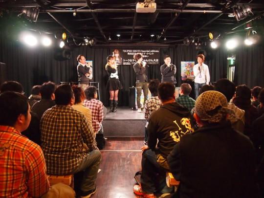 榊原ゆいさん以外の出演者はDJ SHARPNEL、t+pazolite、SHOT MUSICプロデューサーのY. Seino 。そして司会はA-POP FESTIVALのはらださとし。
