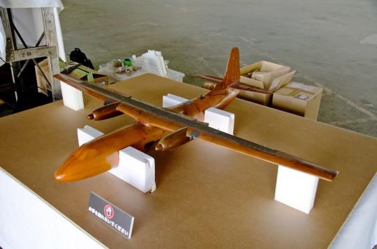 没案となった高翼の風洞実験模型