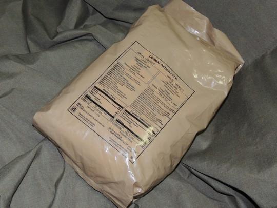 国連軍レーションパッケージ裏