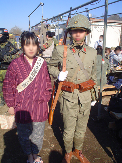 日本兵と愛国婦人会