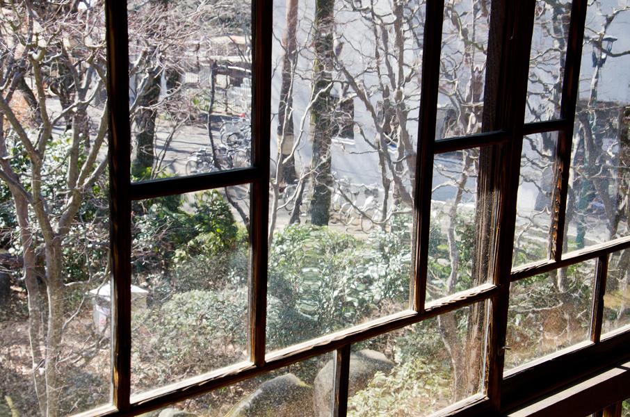 明治の窓ガラス