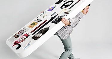 Yahoo!が全長2020×全幅952×全高101(mm)総重量30.2kgの巨大スマホカバー開発