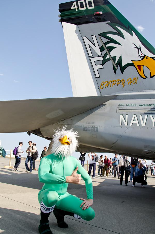 VFA-195のマスコットも登場