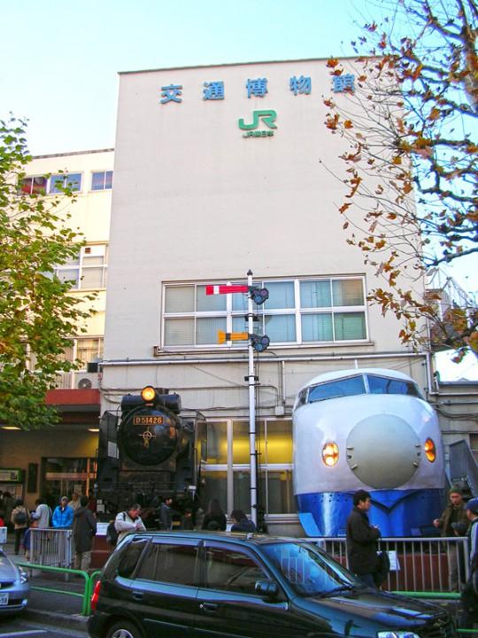 往時の交通博物館正面