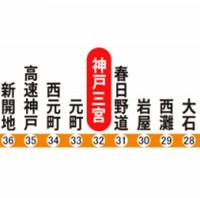 阪神電車、「三宮」を「神戸三宮」に駅名変更