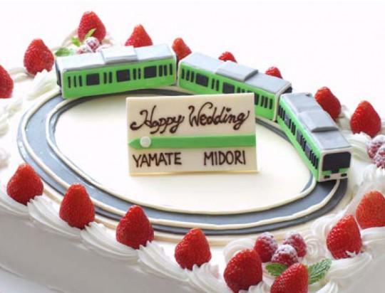 特製 みどりの山手線ウエディングケーキ