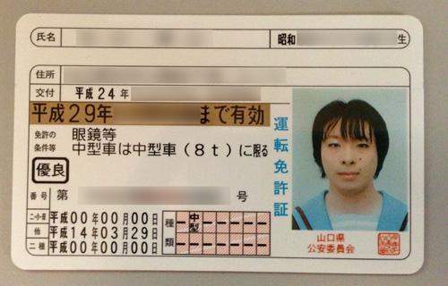 コスプレ免許証