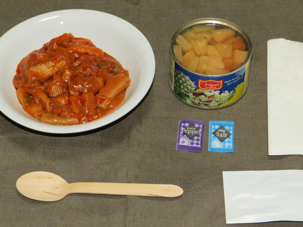 UAE軍レーション夕食